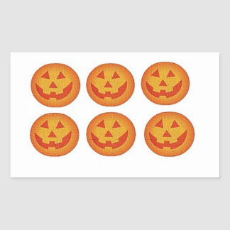 Halloween Jack O Lantern  Sticker 6 set