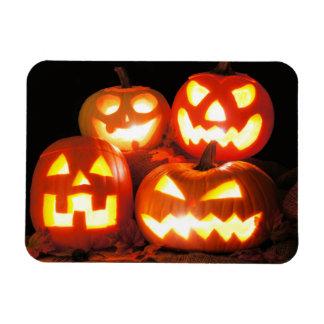 Halloween Jack O Lanterns Rectangular Photo Magnet