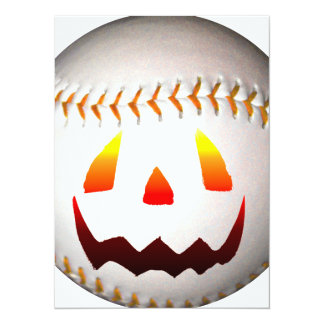 Halloween Jack O'Lantern Baseball Card