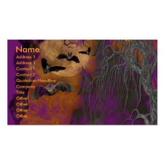 Halloween - Just a Lil Spooky - Boston Terrier Business Card