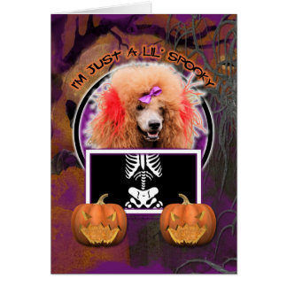 Halloween - Just a Lil Spooky - Poodle - Red Card