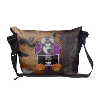 Halloween - Just a Lil Spooky - Siberian Husky Commuter Bags