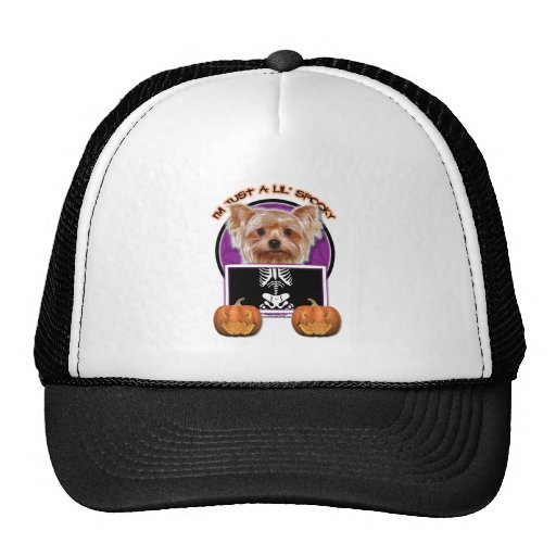 Halloween - Just a Lil Spooky - Yorkie Mesh Hat