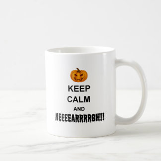 Halloween Keep Calm Classic White Coffee Mug