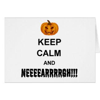 Halloween Keep Calm Greeting Card