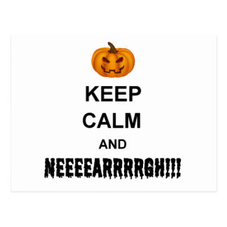 Halloween Keep Calm Postcard