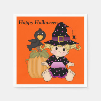 Halloween Kids Cute Witch Party Napkin Paper Napkin