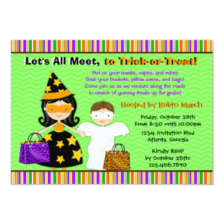 Halloween Kids Halloween Trick or Treat Party Card