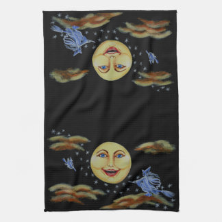 Halloween,kitchen,towel,moon,witches,stars Kitchen Towel