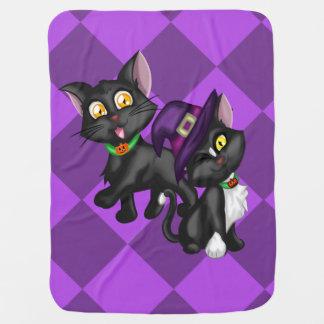 Halloween Kittens Stroller Blankets