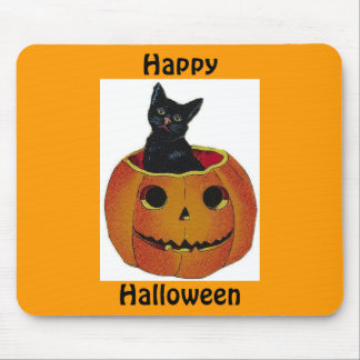 Halloween Kitty Mouse Pad