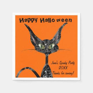 Halloween Kitty Paper Napkin