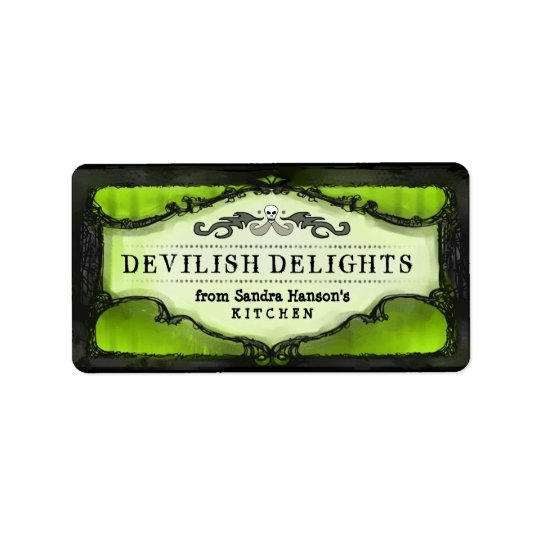 Halloween Labels - Lime Green Custom Halloween