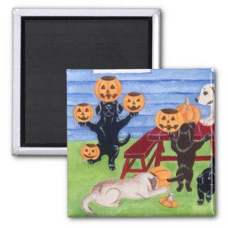 Halloween Labradors! Square Magnet