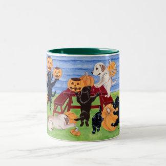 Halloween Labradors! Two-Tone Mug