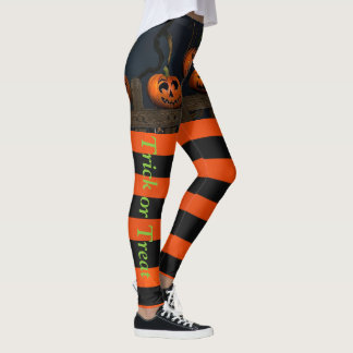 HALLOWEEN Leggings Trick or Treat Your Name Pants