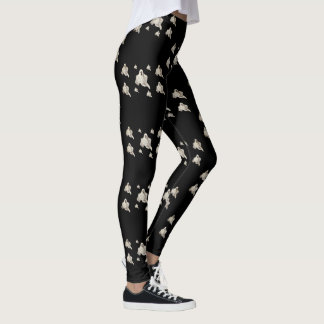 Halloween Leggings with Ghost pattern