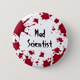 Halloween mad scientist 2 inch round button
