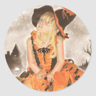 Halloween Magic Classic Round Sticker