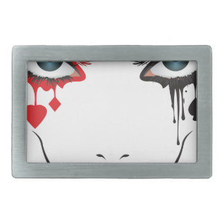 Halloween Makeup Belt Buckle