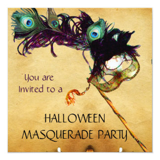 HALLOWEEN MASQUERADE PARTY black blue white Card