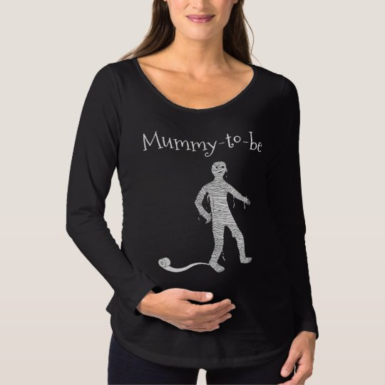 "Halloween Maternity T-shirt: ""Mummy-to-be"" Maternity T-Shirt"