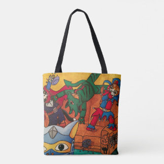 Halloween Medieval Knight Costume Cats Tote Bag