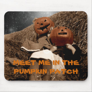 HALLOWEEN MEET ME IN THE PUMPKIN PATCH PHOTO ART MOUSE PAD