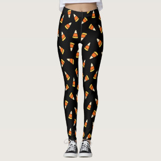 Halloween Mega Candy Corn Pattern Leggings