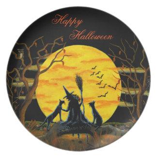 Halloween melamine party plate