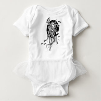 Halloween Mermaid Baby Bodysuit