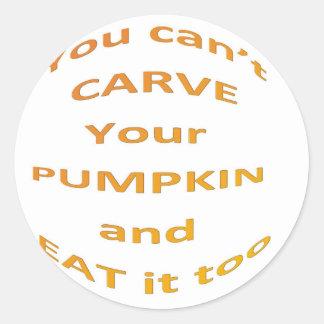 Halloween message classic round sticker