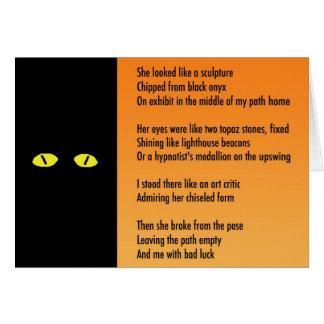 Halloween Metaphor Poem Card - Black Cat