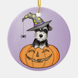 Halloween Miniature Schnauzer Ceramic Ornament