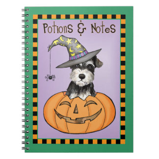 Halloween Miniature Schnauzer Spiral Notebook