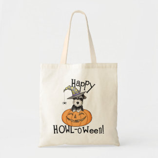 Halloween Miniature Schnauzer Tote Bag