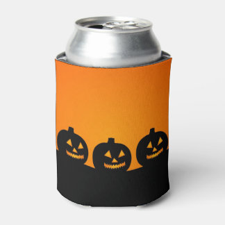 Halloween // Minimalist pumpkin silhouette Can Cooler