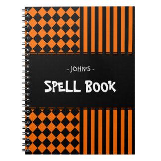 Halloween mix pattern notebook