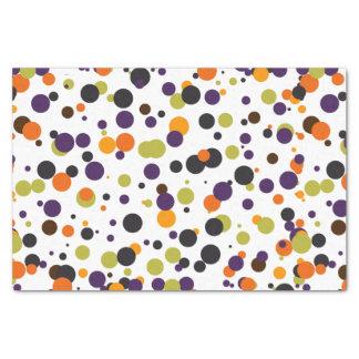 Halloween Modern Polka Dots in Orange Green Purple Tissue Paper