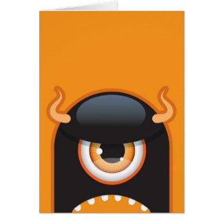 Halloween monster card