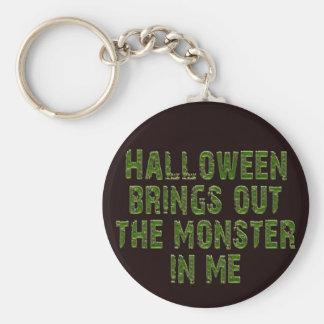 Halloween Monster In Me (Frankenstein green) Key Chain