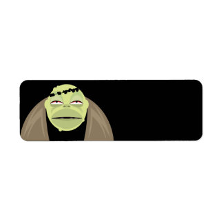 Halloween Monster Label Return Address Label