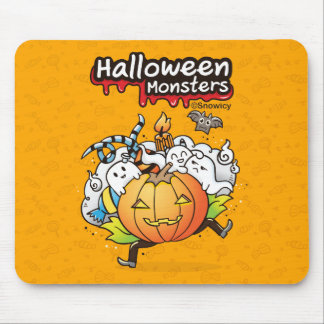 Halloween monsters Mousepad