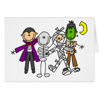 Halloween Monsters Tshirts and Gifts Greeting Card