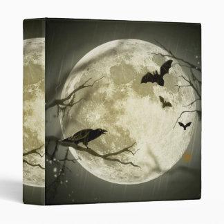 Halloween moon - full moon illustration 3 ring binder
