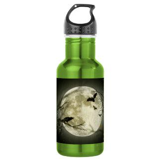 Halloween moon - full moon illustration 532 ml water bottle
