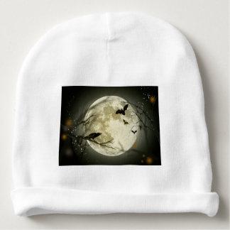Halloween moon - full moon illustration baby beanie