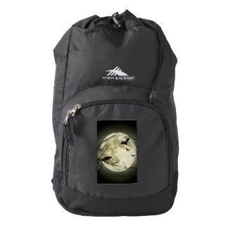 Halloween moon - full moon illustration backpack