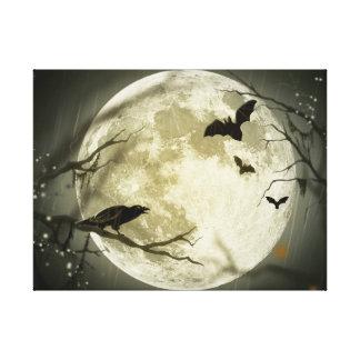Halloween moon - full moon illustration canvas print