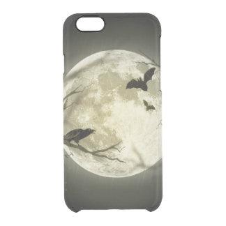 Halloween moon - full moon illustration clear iPhone 6/6S case